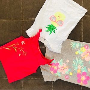 3-pack Size 4 Girls' Tees